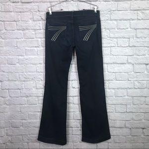 7 For All Mankind Dojo Bootcut Jeans Dark Wash 30